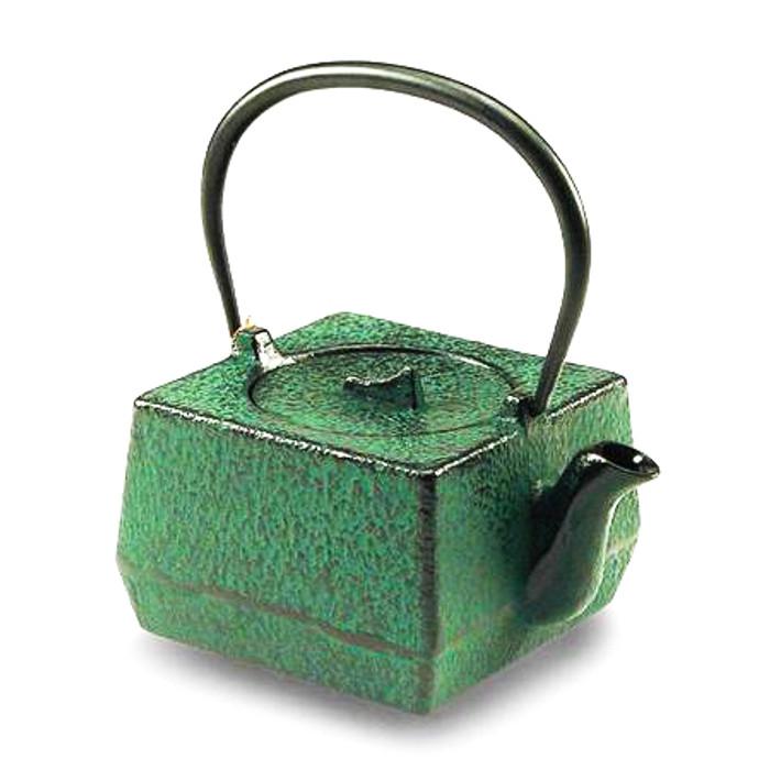 Emerald Square Cast Iron Teapot