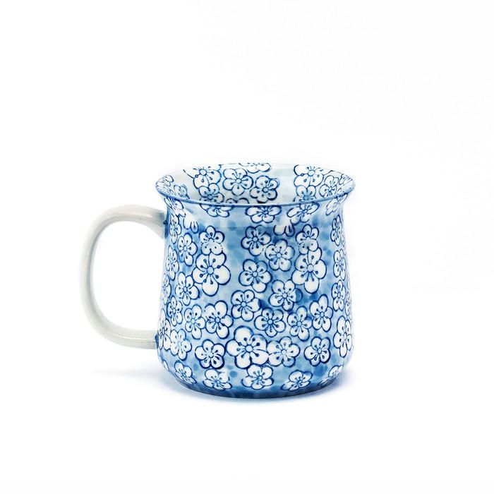 Blue Cherry Blossom Mug