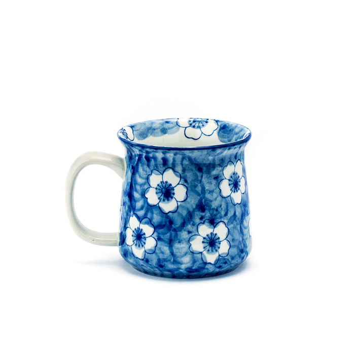 Blue Inked Cherry Blossom Mug