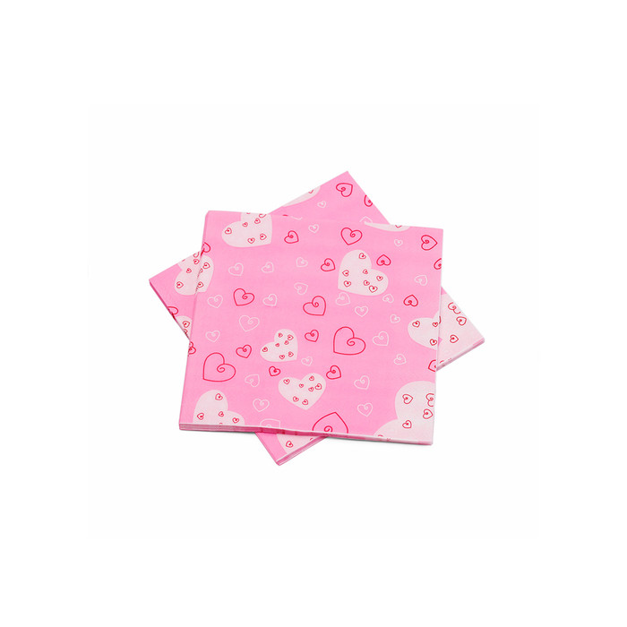 "Lovely Pink Paper Napkins 5"" - 20 sheets"