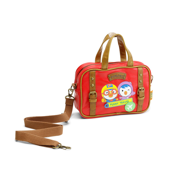 Pororo & Petty Travel Cross-Bag - Red