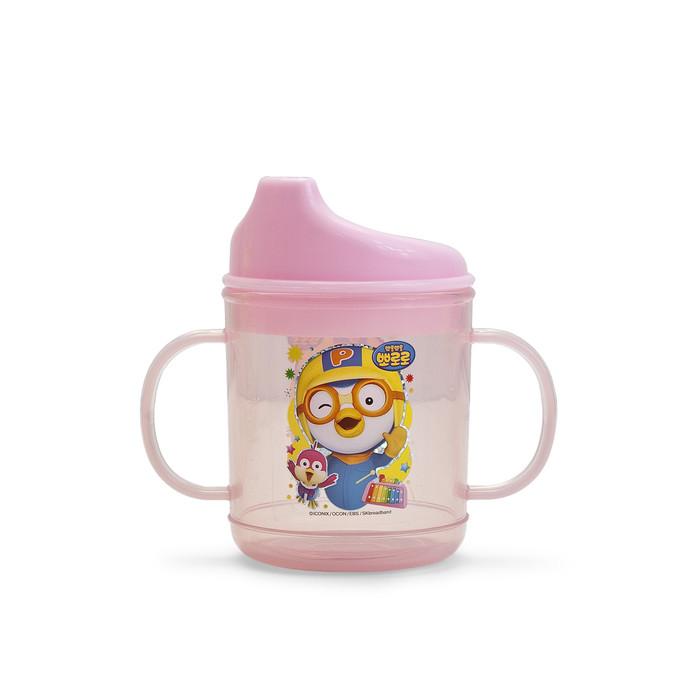 Pororo 2 Handled Kids Drinking Cup Bottle - Pink