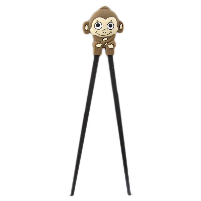 Brown Kid's Monkey Helper Chopstick