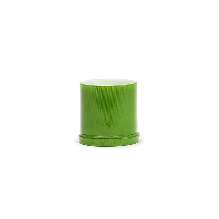 Green Bamboo Plastic Sake Cup 12pcs