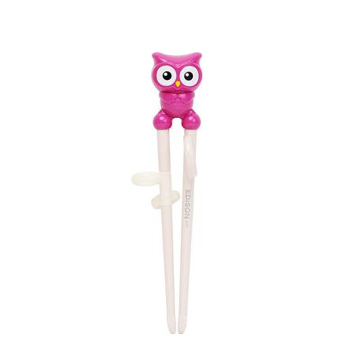 Pink Edison Owl Chopstick Right-Hand