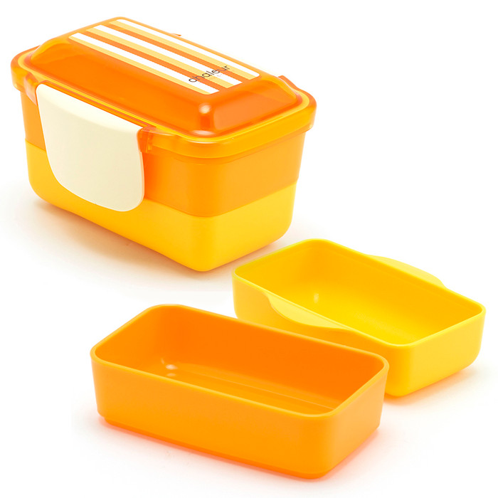 2-Tier Bento Lunch Box - Orange