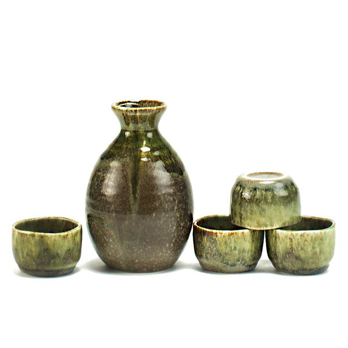 Forest Green Sake Set