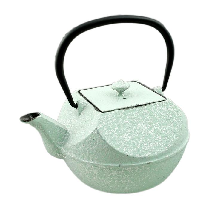 Cast Iron Teapot Pressed - Mint Green