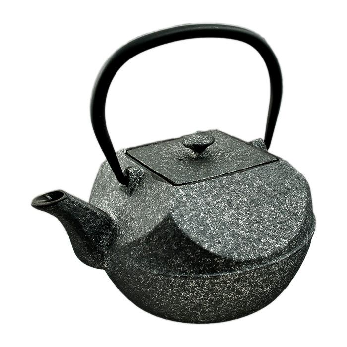 Cast Iron Teapot Pressed - Black