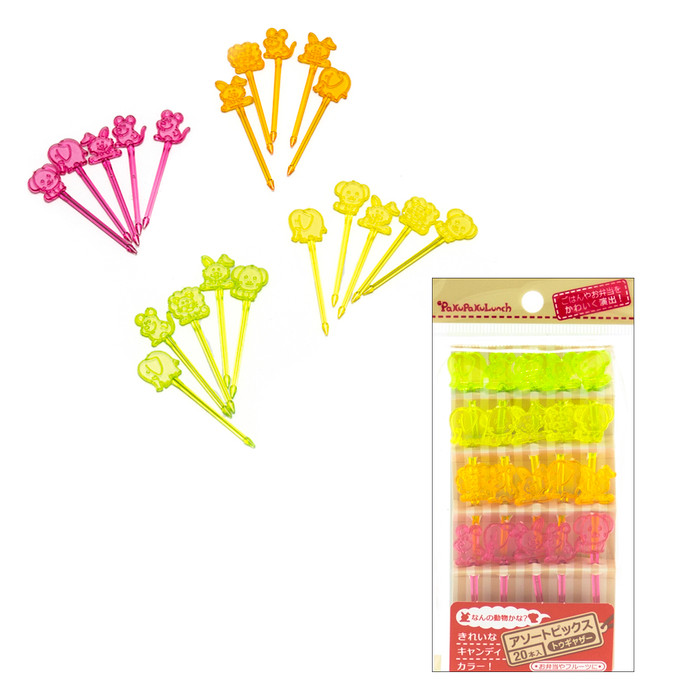 Colorful Animal Fruit Pick  (20pc/pack)