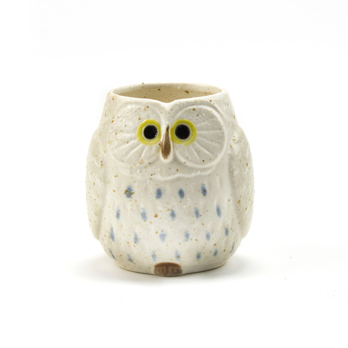 Stony Owl White Teacup