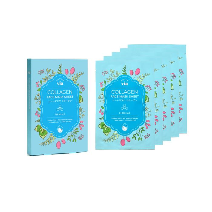 VIA Face Mask Sheet - Collagen (5 pc)