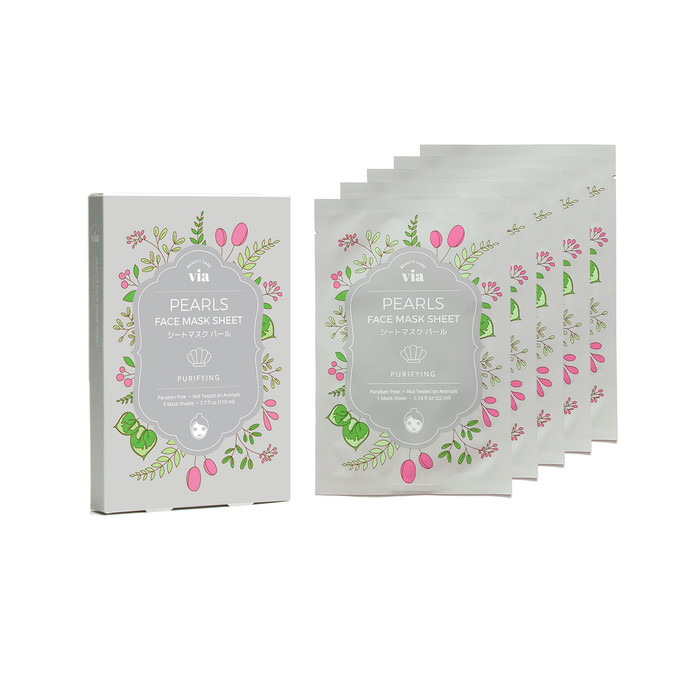 VIA Face Mask Sheet - Pearl (5 pc)