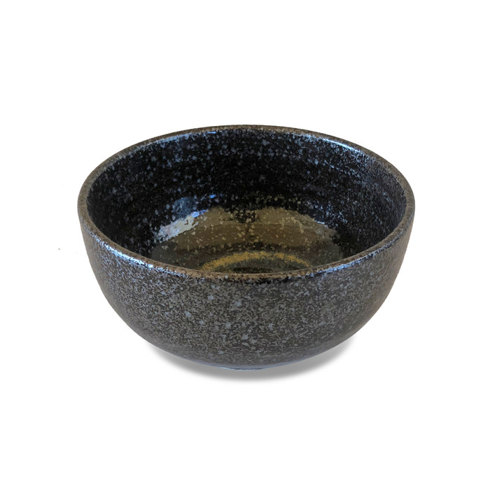 "Gold Swirl Stoneware Serving Bowl 6.25"""