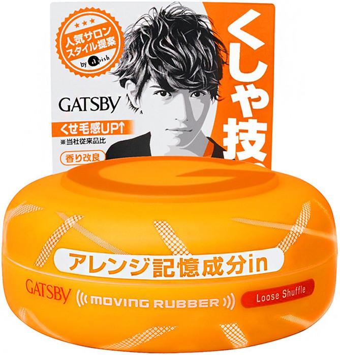 Gatsby Moving Rubber Hair Wax Loose Shuffle 80g