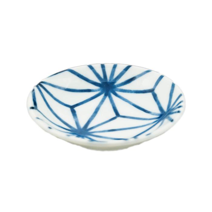"Web Pattern Blue Sauce Bowl 3.5""D, Set of 4"