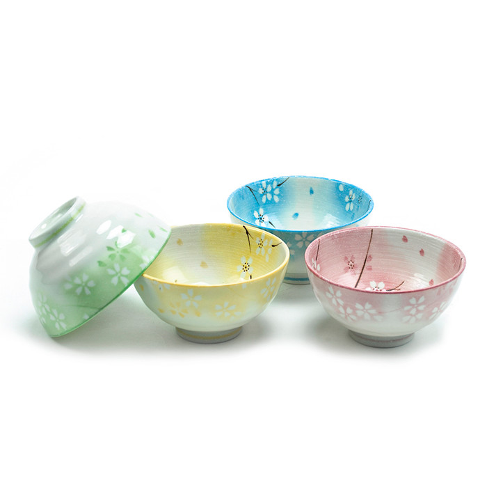 "Spring Sakura Assorted Bowl 4.5""D, Set of 4"