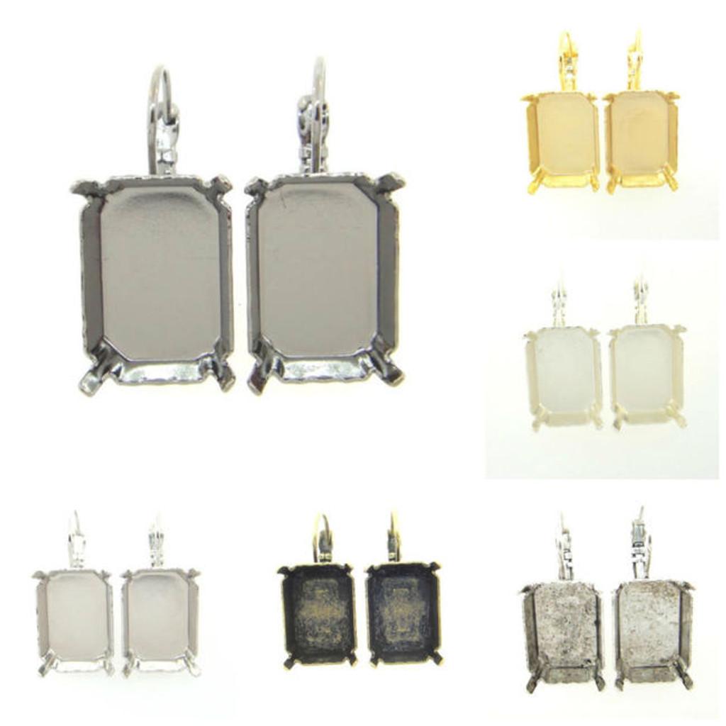 18mm x 13mm Octagon Earrings