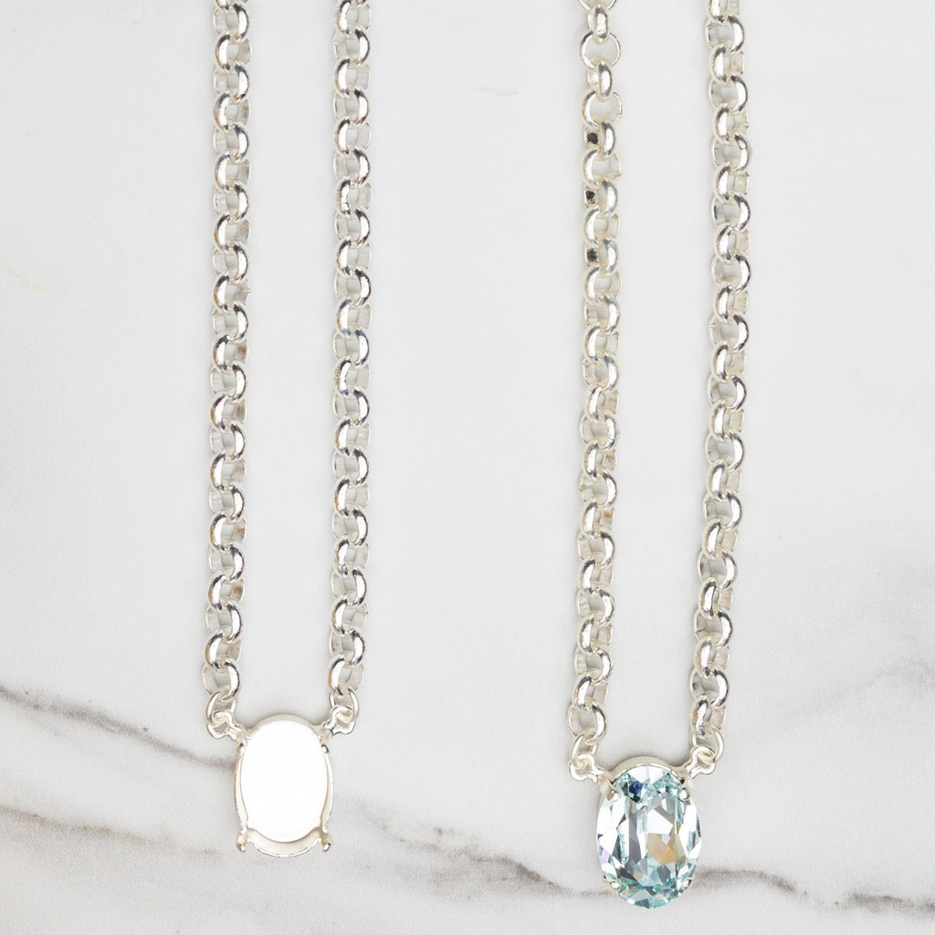 18mm x 13mm Oval | Pendant Necklace | Three Pieces