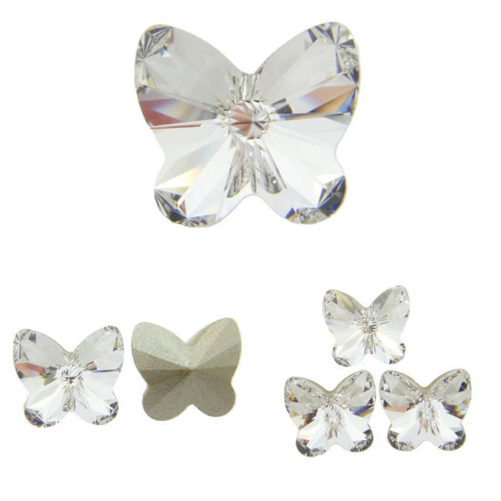 10mm Fancy | Rivoli Butterfly | Swarovski Article 4748 | 12 Pieces