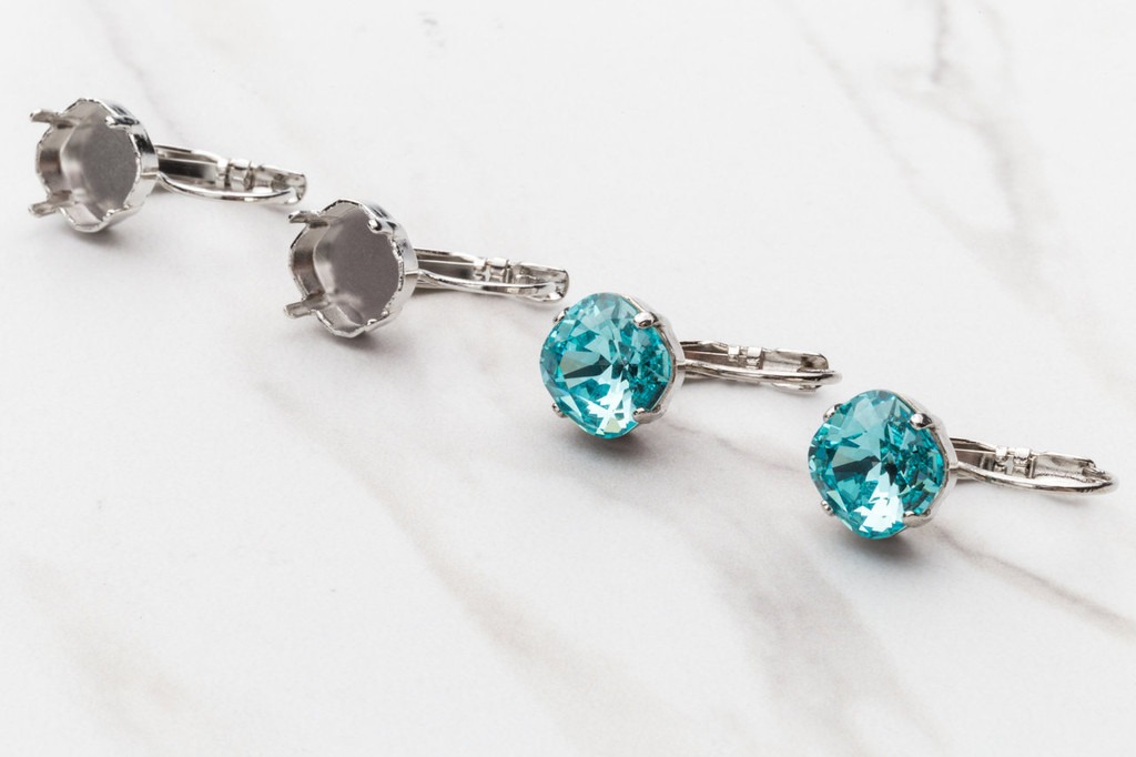 10mm Square Drop Earring