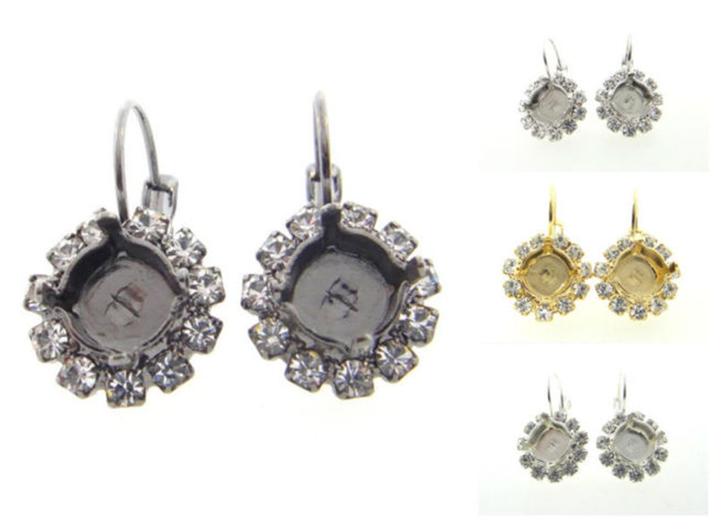 8.5mm Crystal Halo Drop Earring