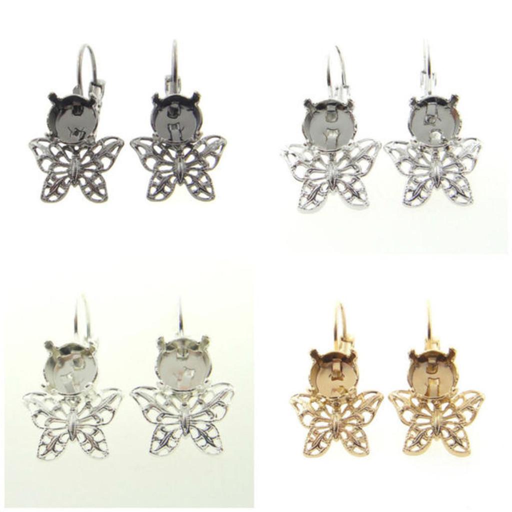 8.5mm Butterfly Filigree Drop Earring