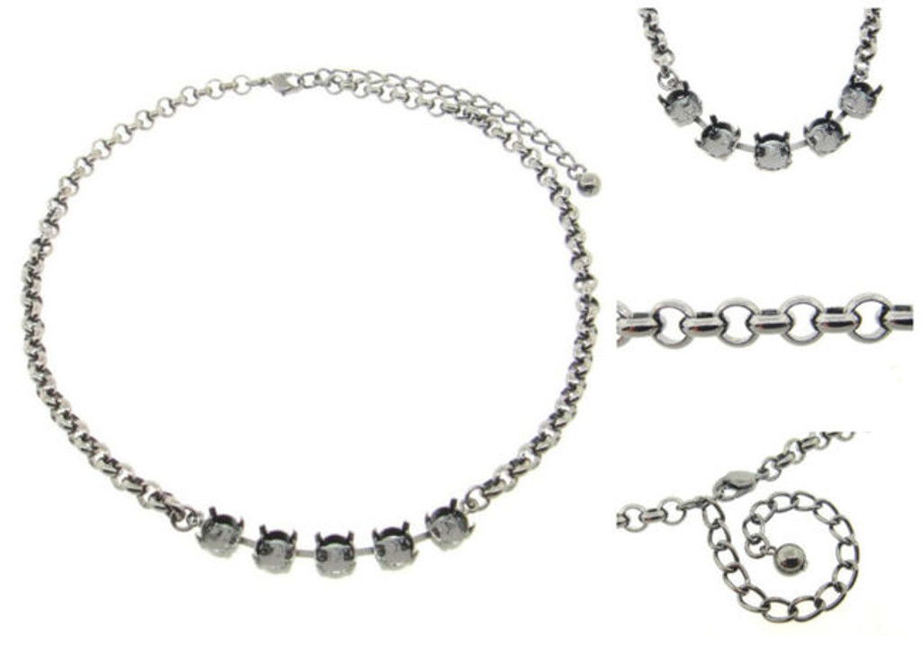 8.5mm | Classic Five Setting Necklace | Three Pieces
