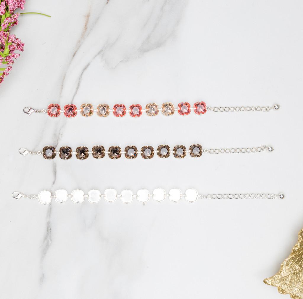 12mm Square | Classic Ten Setting Bracelets | Three Pieces