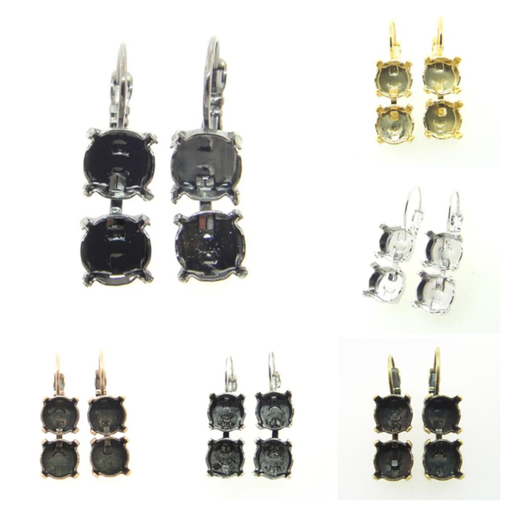 8.5mm | Two Setting Drop Earrings