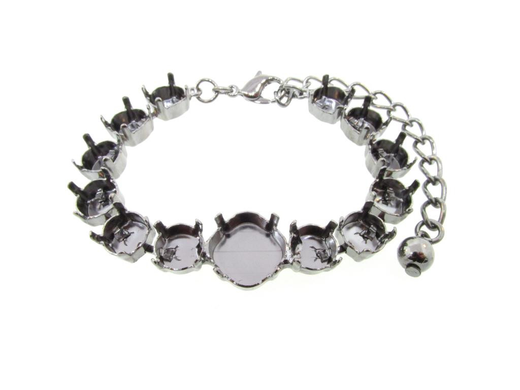 Empty Special Design Bracelets Style 9 - 8.5mm & 12mm Square Cushion Cut