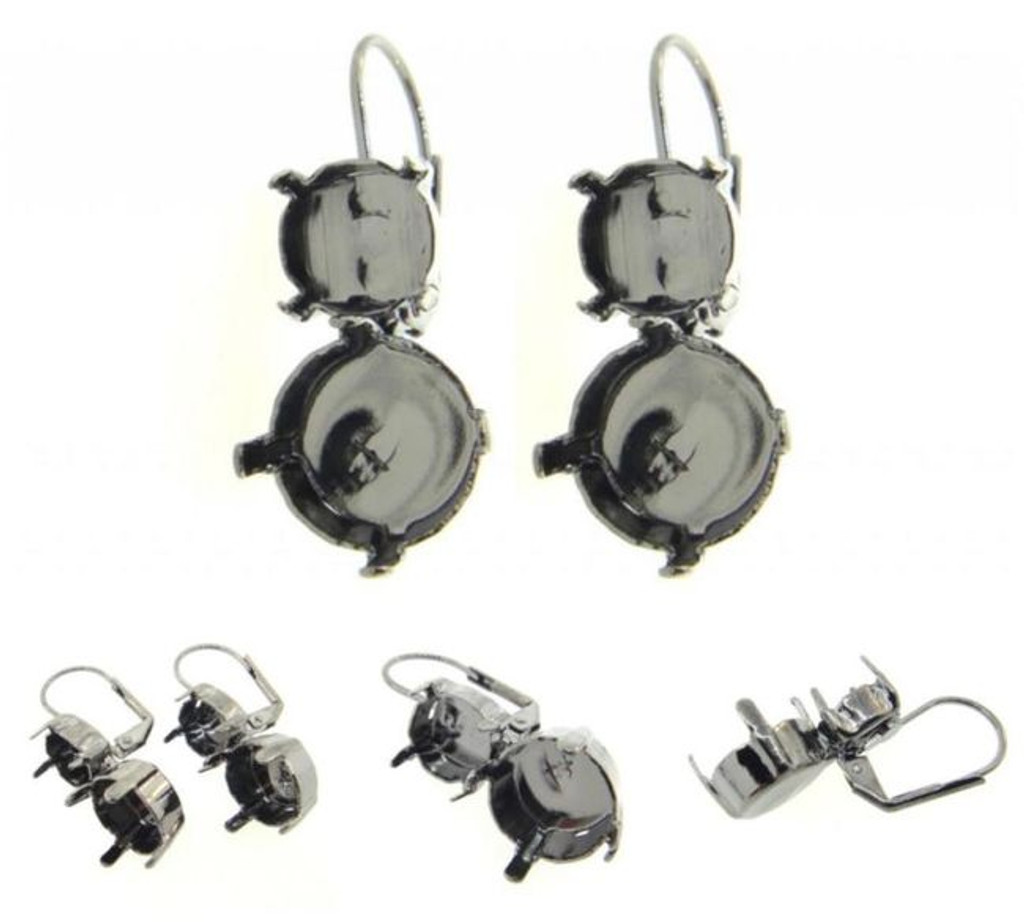 8.5mm & 11mm Asymmetrical Drop Earrings