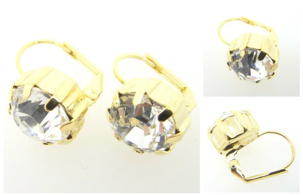Austrian Crystal Earrings Gold