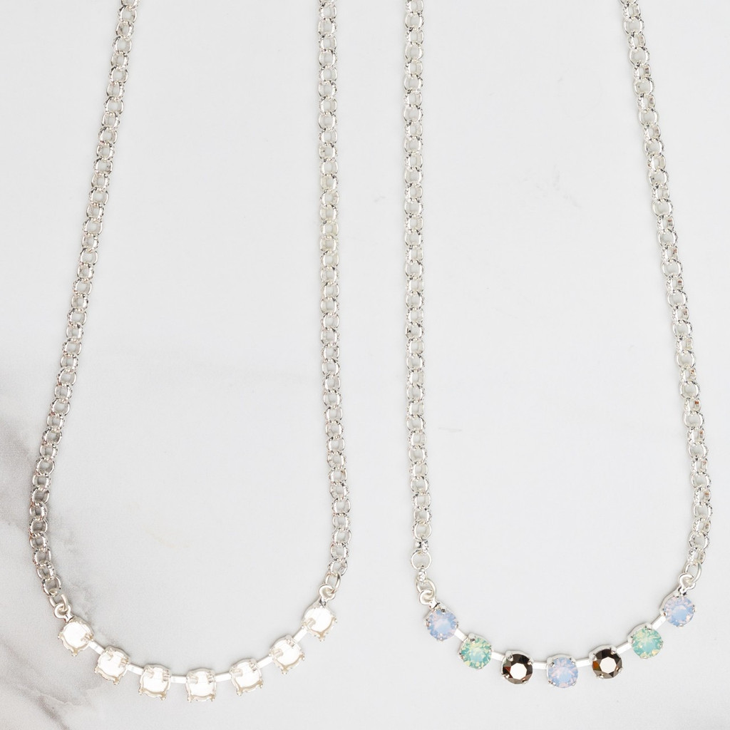 6mm | Classic Seven Setting Necklace | Three Pieces