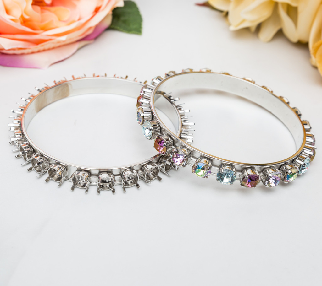 8.5mm | Statement Bangle Bracelets | Three Sizes Available | Three Pieces