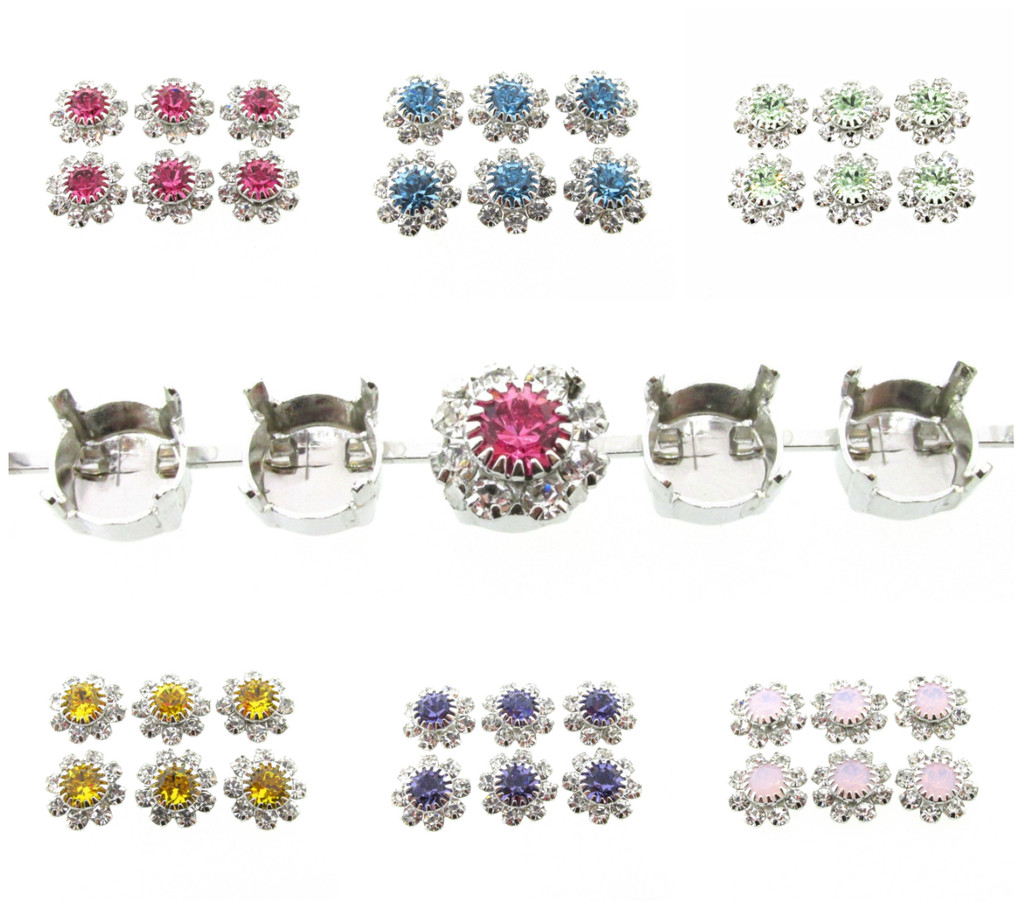 Austrian Crystal Daisy Elements in a variety of colors