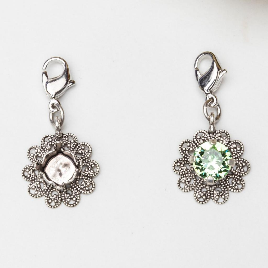 8.5mm | Filigree Flower Necklace Enhancer | Three Pieces