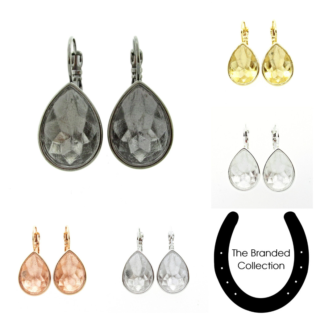 18mm x 13mm Pear | Casted Drop Earrings | One Pair