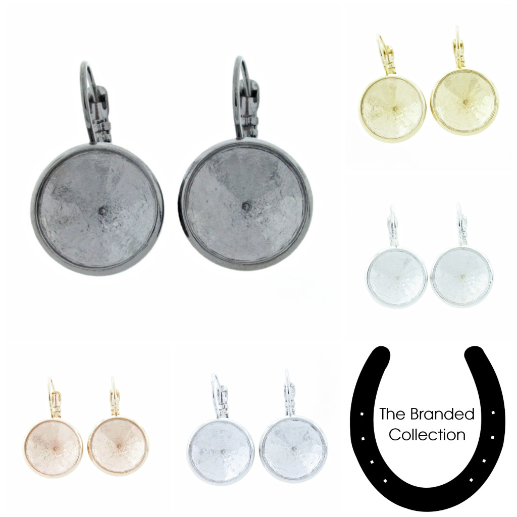 14mm Round | Casted Drop Earrings | One Pair