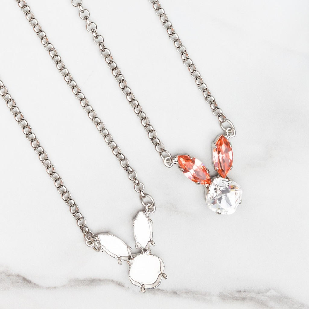 12mm Square & 15mm x 7mm Navette | Bunny Necklace | One Piece