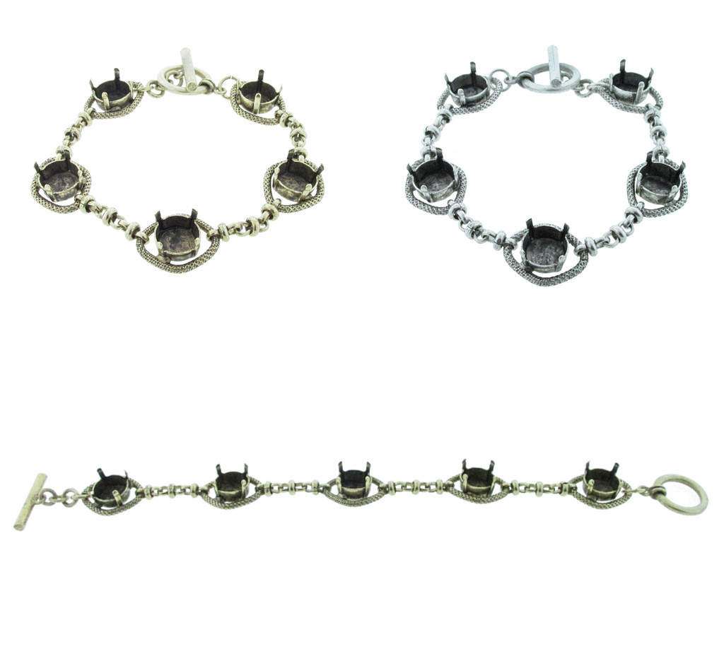 11mm | Five Setting Statement Bracelet | One Piece