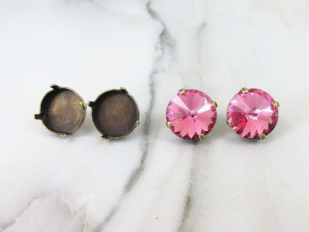 14mm Round | Classic Stud Earrings | Three Pairs