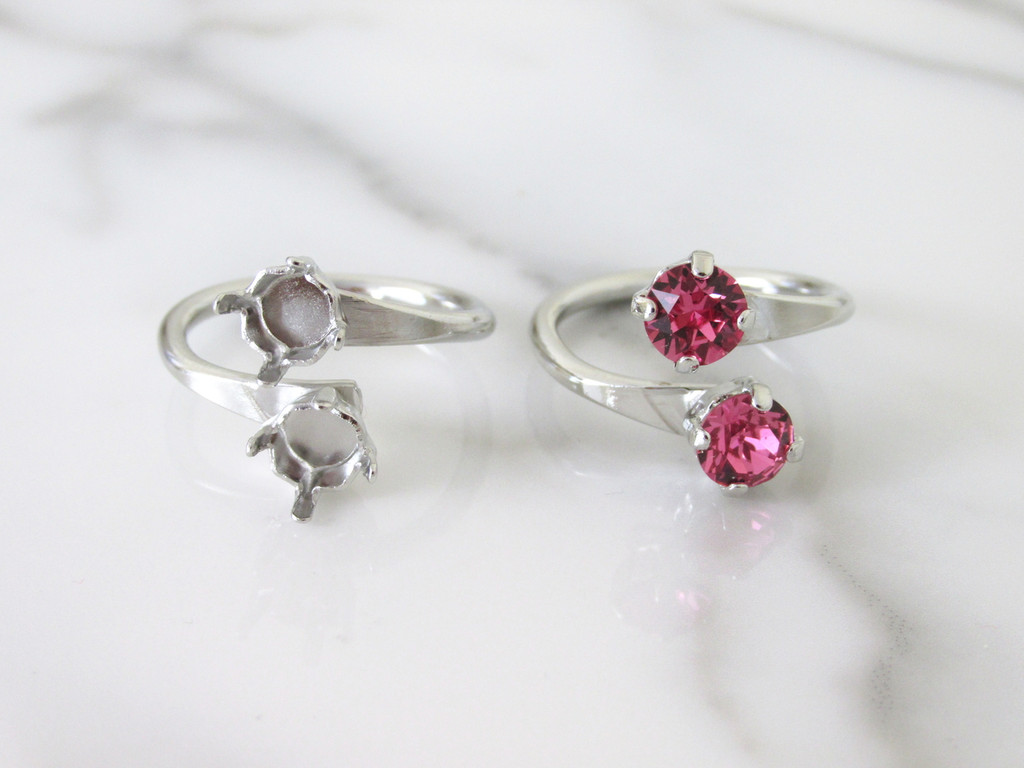 6mm (29ss) Double Setting Adjustable Ring