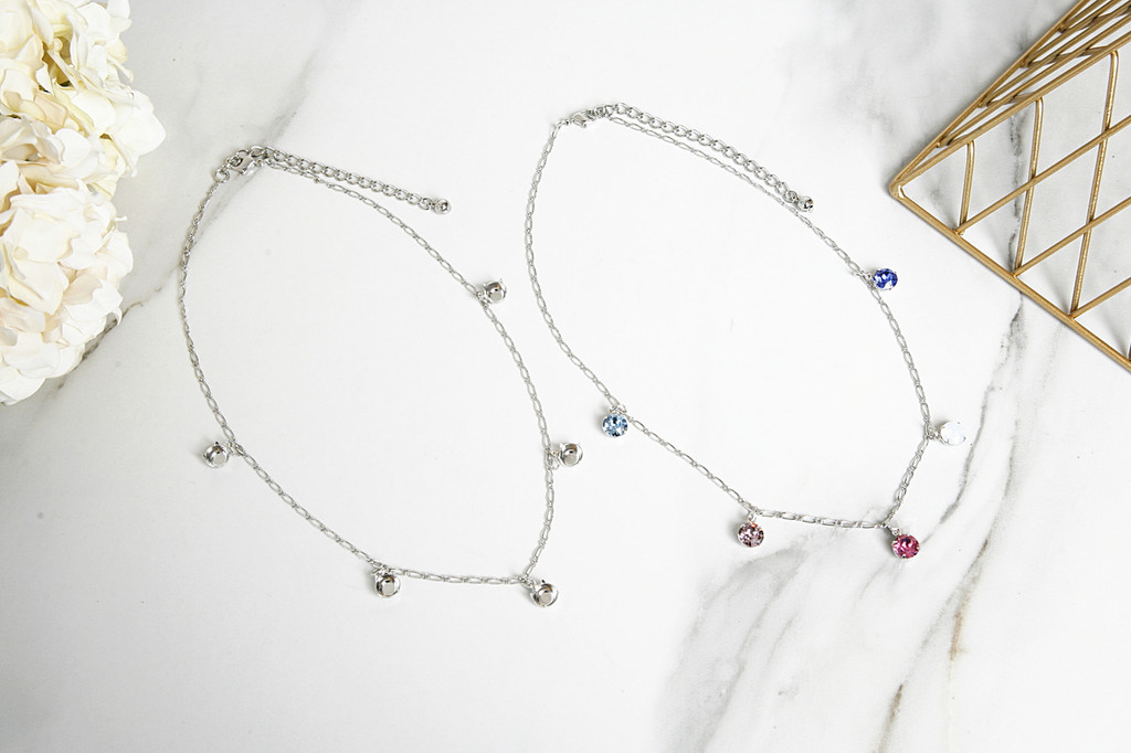 8.5mm | Five Setting Dangle Necklace | One Piece