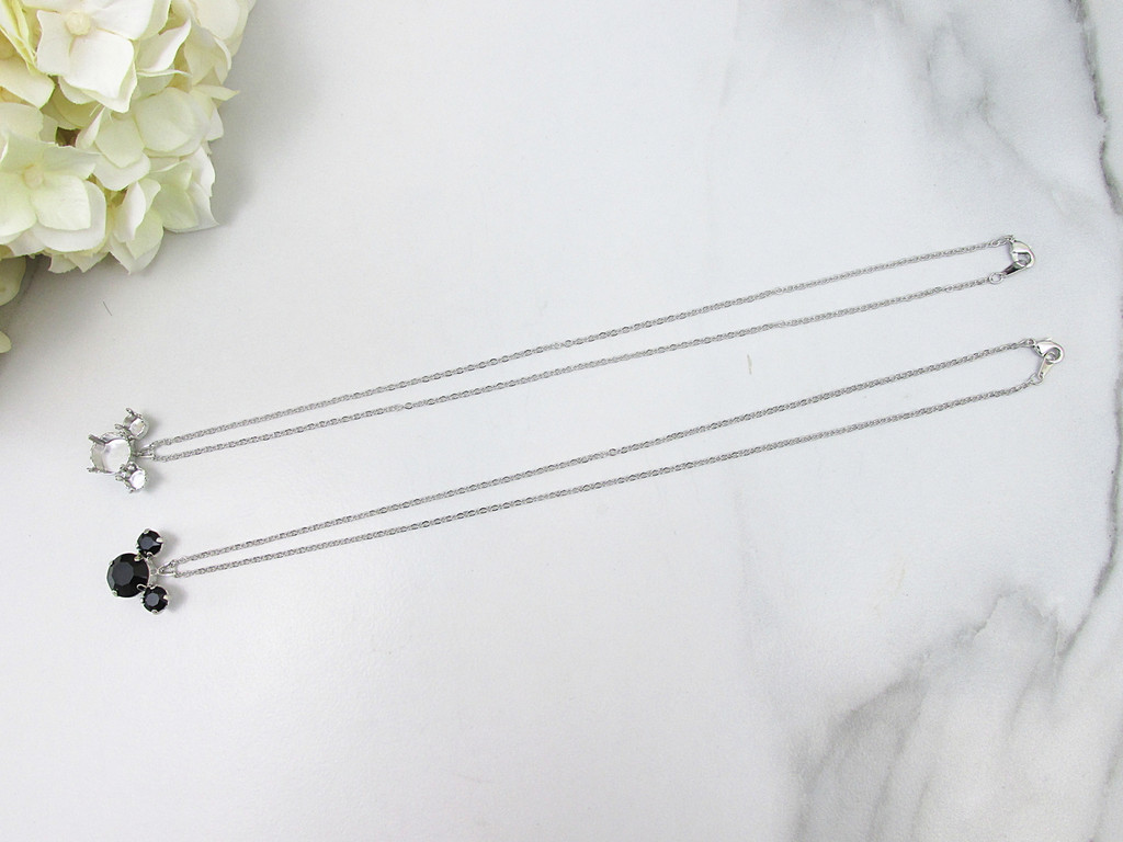 6mm & 11mm | Mouse Pendant Necklace | One Piece