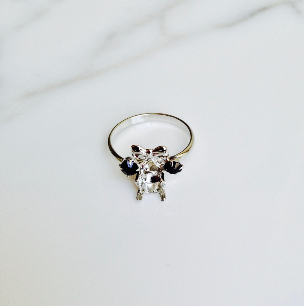 Small Girl Mouse | Simple Band Adjustable Ring