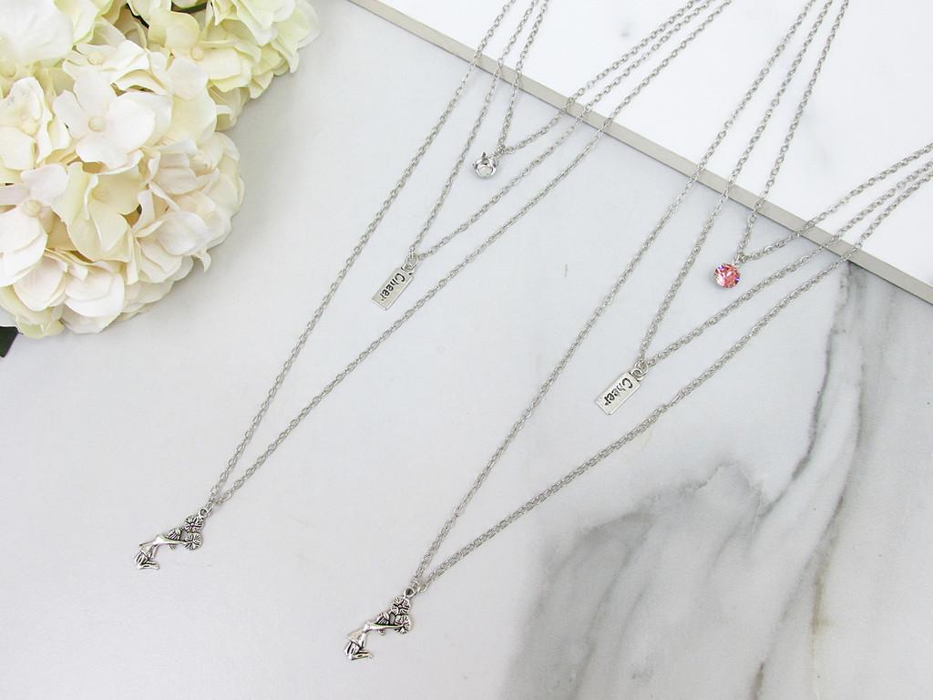 8.5mm | Layered Cheerleader Charm Necklace | One Piece
