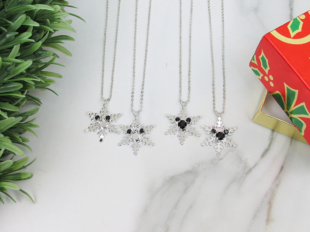 6mm | Boy or Girl Mouse Snowflake Necklace | One Piece