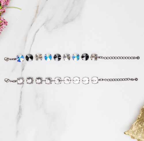 14mm Round   Classic Nine Setting Bracelets   Three Pieces