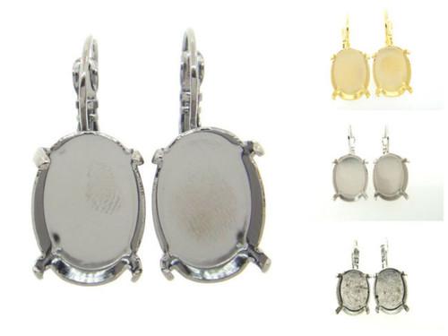 18mm x 13mm Oval Drop Earrings